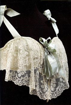 """France, c.1905. From the book """"Historical Fashion in Detail. Underwear""""    Gorgeous! Leave it to the French to make lingerie so pretty before the rest of the world."""