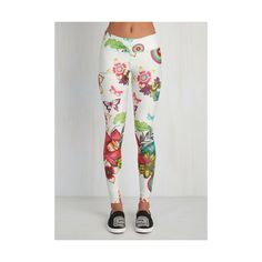 80s Skinny Kettle Belle Athletic Leggings (£59) ❤ liked on Polyvore featuring activewear, activewear pants, apparel, bottoms, leggings, white and athletic sportswear