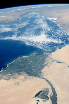 Nile River delta and more from the ISS on July 10 by Astronaut Karen Nyberg.