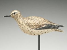 Important running sandpiper, Elmer Crowell, East Harwich, Massachusetts, last quarter 19th century.