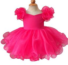 Beiji Infant Girls Cupcakes Princess Short Birthday Party Dress 8 US Hot Pink * You can get additional details at the image link.