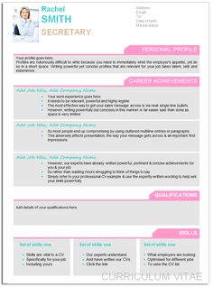 Designer CV Examples   Stylish Curricum Vitae Templates To Wow Employers