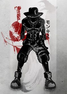 ace asce anime manga japan japanese ink inking flame fruit devil death white beard pirate straw hats hat fanfreak fan red crimson luffy one piece black brother strong bounty
