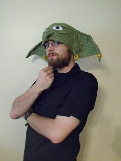 World of Warcraft Crochet Goblin Beanie by KuhnCustomCreations, $35.00