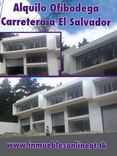 Alquilo Ofibodegas Carreterea a El Salvador, Guatemala 500 metros2 Bodega 280 metros2 Oficinas 220 metros2 4 parqueos Renta $3500  t 42221612 42387726 anaurrutia@live.com www.inmueblesonlinegt.tk