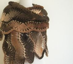 I love the shading and flow it has. Brown Tones Shawl Rectangle Stole Christmas Gift by filofashion, $70.00