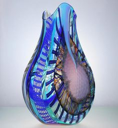 Murano Glass | Luca Vidal Studio Celotto Murano glass object vase manufactured in ...
