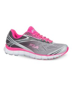 Take a look at this Gray & Hot Pink Memory Cloak 2 Running Shoe on zulily today!