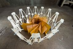 NASA are developing the idea that spacecraft solar panels could be constructed effectively by employing origami folds