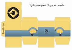 Caixa Cubo Dupla com Personagens - Convites Digitais Simples