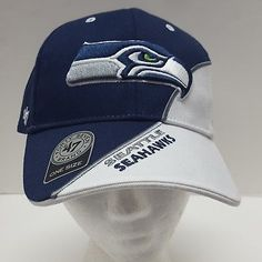04183a25b8d NFL 47 Brand Forty Seven Hat Seattle Seahawks Strapback One Size Blue White