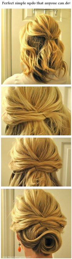 simple updos for shoulder length hair