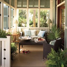 Southern homes are famous for their relaxing and beautiful front porches. Find some of our best house plans with porches here. Southern Living, Southern Porches, Southern Charm, Southern Style, Coastal Living, Country Porches, Country Living, Country Style, Southern Accents