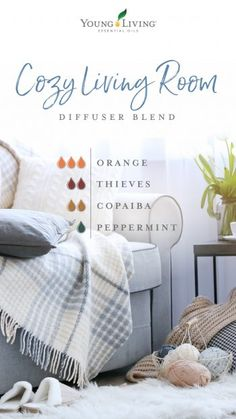 cozy living room diffuser blend Brighten indoor and outdoor spaces with these eight diffuser blends. Young Essential Oils, Essential Oils Guide, Copaiba Essential Oil, Thieves Essential Oil, Raven Essential Oil, Cedarwood Essential Oil, Orange Essential Oil, Young Living Diffuser, Young Living Oils