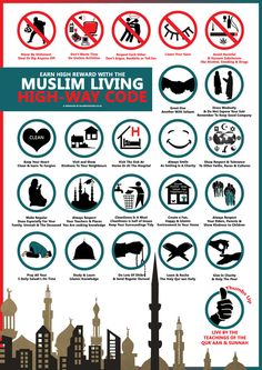 Muslim LIVING Highway Code By Islamic Posters Print and share these at home, office, mosques etc.. Download more posters for FREE from our website www.islamicposters.co.uk You Are more than welcome...