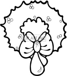 1000+ images about wreaths on Pinterest | Clipart black and white, Christmas wreaths and ...