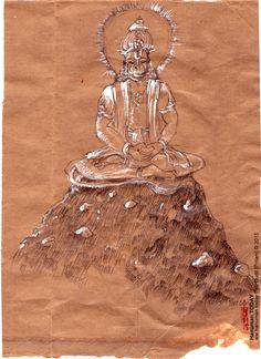 Sunday, September 20, 2015  Daily drawings of Hanuman / Hanuman TODAY…