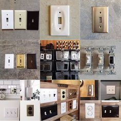 Industrial, Switch Plates, Lighting Design, My House, Diy And Crafts, Photo Wall, New Homes, Lights, Steel