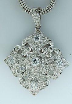 Art deco diamond pendant | CustomMade