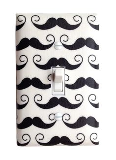 Mustache Light Switch Plate Cover