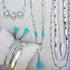 PLAY IT COOL: Pair silver with blue accents for a fresh spring look! #stelladotstyle #summer #newarrivals #jotd
