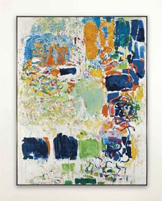 Masterpiece painting by famous abstract expressionist artist Joan Mitchell. Title is Noon Joan Mitchell, Contemporary Abstract Art, Modern Art, Architecture Tattoo, Painting Workshop, Inspiration Art, Art Moderne, Colorful Paintings, Art Plastique