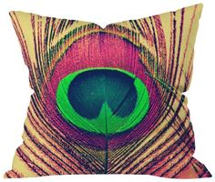 DENY Designs Shannon Clark Peacock 2 Throw Pillow, 20 by 20-Inch DENY Designs http://www.amazon.com/dp/B00AAVJNUW/ref=cm_sw_r_pi_dp_1ZNVub0AAA5FP