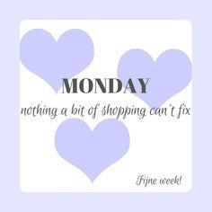 Ha maandag! Ik ben zo geen ochtendmens maar op maandag al helemaal niet. Gelukkig werk ik met hele leuke kleren dan hoef ik niet elke dag te shoppen ;-)