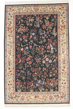 Online veilinghuis Catawiki: Zeer mooi TABRIZ tapijt, Gol-o Bolbol, Iran, 20th