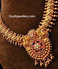 Antique Kundan Necklace and Jhumkas