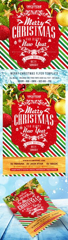 Christmas Party Flyer Template PSD #design Download: http://graphicriver.net/item/christmas-party-flyer/13688568?ref=ksioks