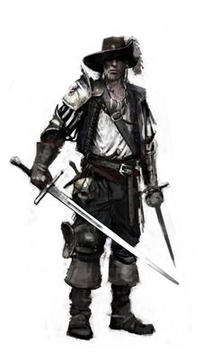 I like the addition of a single pauldron. Besides that, it's a shot waistcoated pirate with added scay mercenary thrown in.