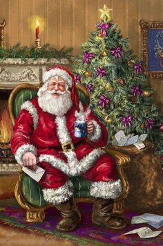 3b6fd90c39e Image Noel, Christmas Scenes, Santa Christmas, Christmas Pictures, Father  Christmas