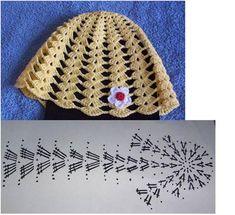 Hats Crochet Patterns Part 10 - Beautiful Crochet Patterns and Knitting Patterns Crochet Beanie Hat, Crochet Cap, Crochet Stitches, Free Crochet, Baby Hats Knitting, Knitted Hats, Accessoires Divers, Knitting Patterns, Crochet Patterns