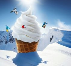 Ice-Cream Cone Snowboarding slope... cool