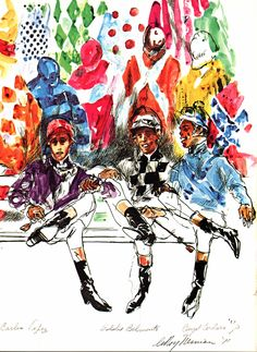 1000 Images About Leroy Neiman On Pinterest Expressionism Kentucky Derby And Horse