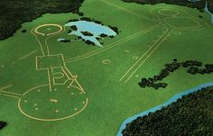 Ohio Earthworks, originally called Moundbuilders was built by the Hopewell culture approximately 2000 years ago. The architecture was built for part cathedral, part cemetery, and part astronomical observatory.