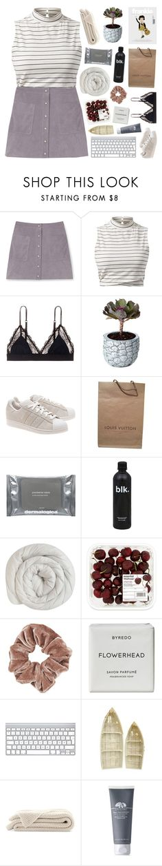 """""""{closed}"""" by vogue-galaxy ❤ liked on Polyvore featuring Rebecca Minkoff, LoveStories, Chen Chen & Kai Williams, adidas Originals, Louis Vuitton, Dermalogica, Topshop, Byredo and Origins"""