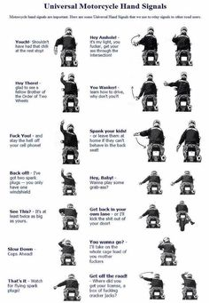 Motorcycle Hand Signals-->more realistic