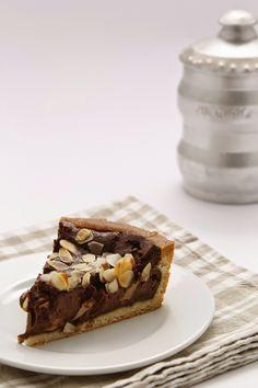 Coccole di dolcezza: Crostata al cioccolato, pere e mandorle