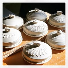 Hand Thrown Pottery, White Texture, Butter Dish, Glaze, Porcelain, Stay Tuned, Stuffed Peppers, Sculpture, Dishes