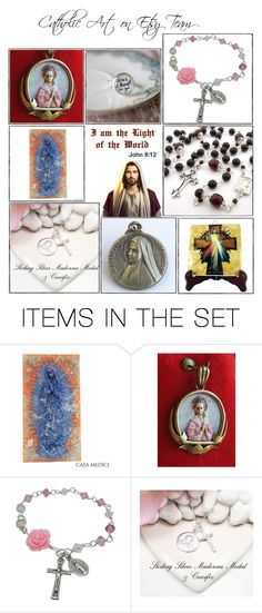 """""""Catholic gifts on Etsy - Volume 1"""" by terrytiles2014 on Polyvore featuring arte, etsy, gifts, catholic e religious"""