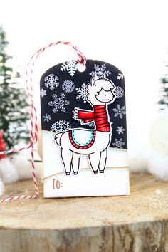 Fa la llama (neat and tangled release week) Diy Christmas Cards, Handmade Christmas, Christmas Crafts, Cool Cards, Diy Cards, Llama Christmas, Neat And Tangled, Handmade Tags, Holiday Themes