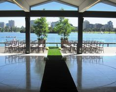 Outdoor E Wedding Ceremony On Carousel S Balcony Albert Park Lake Catering By Food Amp