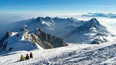 Mirando el Noreste. Mont Blanc. 4810 m.