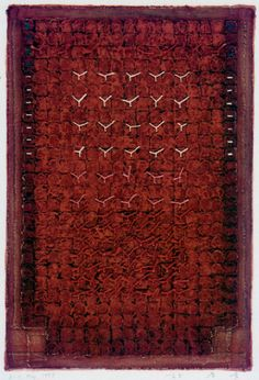 D-15.May.1998paper making, weave the slice of paper painting on it, collage 44x30cm林孝彦 HAYASHI Takahiko 1998