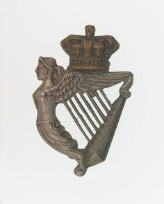 British; 8th (King's Royal Irish) Hussars, Other Rank's Cap badge, c.1900.(NAM Collection)