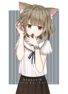 Neko Girl, Lolis Neko, Fox Girl, Anime Furry, Anime Neko, Kawaii Anime Girl, Manga Anime, Anime Girls, Cartoon As Anime