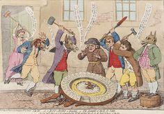 The Downfall of the E.O. Table. James Gillray. 1782