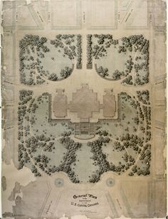 United States Capitol Grounds - Olmstead's 1874 landscape design plan for the United States Capitol, was a 15-year installation project.